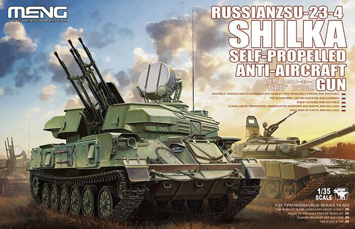 2018 Hot Meng Model TS-023 1 35 Russia ZSU-23-4 Shileka Self-propelled artillery