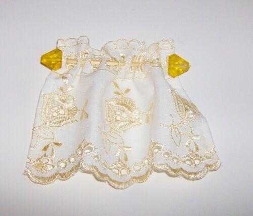 """Gardine, Vorhang """"Komplettdekoration"""" gelb 10x9,5cm EUR 2,99"""