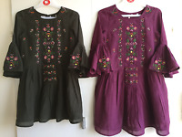 GIRLS NEW EX NEXT EMBROIDERED PARTY HOLIDAY DRESS LINED 3 4 5 6 7 8 9 10 11 12 y