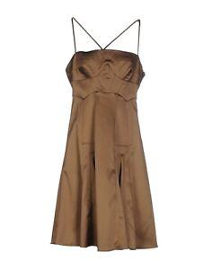 new style 931da d223e Details about ROBERTO CAVALLI JUST CAVALLI 8/46 Brown Bustier Sleeveless  Satin Slip Dress