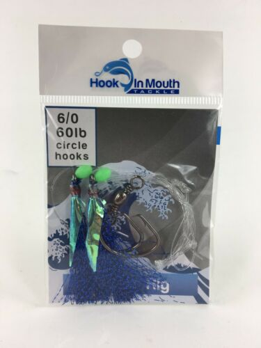 Snapper Flasher Fishing Rigs Circle Hook 6//0 Gummy Shark Snatcher Pre Tied Rig