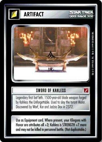 Moderately Played Blaze of Glory STCCG Decipher 1E Star Trek Sword of Kahless