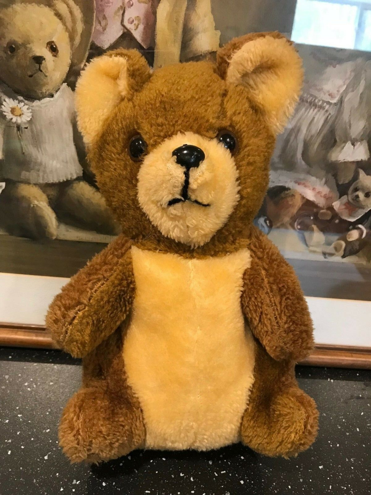 Vintage Dakin Golden Braun Teddy Bear 11 inch No Tags