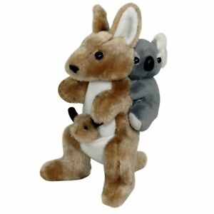 JUMBACK-KOALA-10cm-amp-KANGAROO-23cm-PIGGY-BACK-SOFT-ANIMAL-PLUSH-TOY-NEW