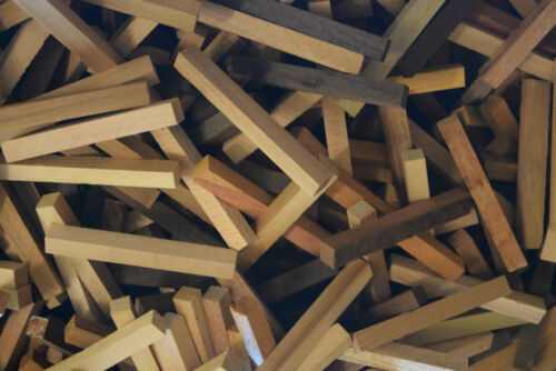 100 Stk Penblank 13x1,5x1,5cm  Drechselholz Holz für Schmuckherstellung Rohlinge