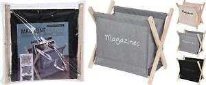 Folding-Wooden-Magazine-Rack-Newspaper-Holder-Stand-Organiser-Floor-Book-Rack