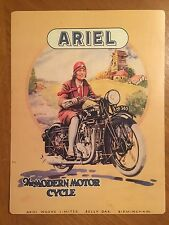 Tin Sign Vintage Ariel Works Limited The Modern Motorcycle