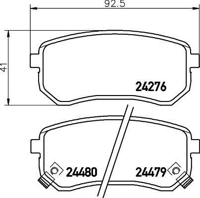 SA 1.0 1.1 2004-Onwards Rear Brake Pads Set Top Quality Unipart Picanto Kia