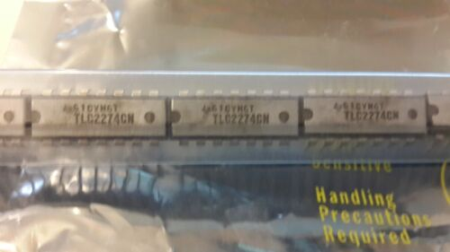 RAIL TO RAIL LINCMOS QUAD OP-AMP PDIP-14 10x TEXAS INST/'S TLC2274CN