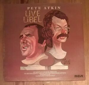 Pete-Atkin-Live-Libel-Vinyl-LP-Album-33rpm-1975-RCA-RS1013-Excellent