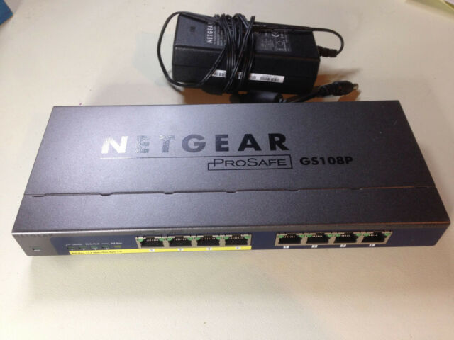NetGear ProSafe (GS108P-100NAS) 8-Ports External Switch incl 4*POE