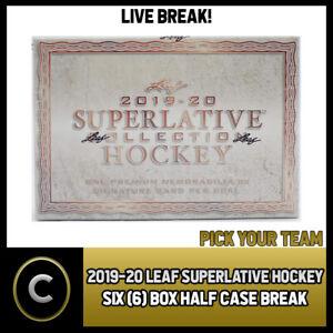 2019-20-LEAF-SUPERLATIVE-HOCKEY-6-BOX-HALF-CASE-BREAK-H844-PICK-YOUR-TEAM