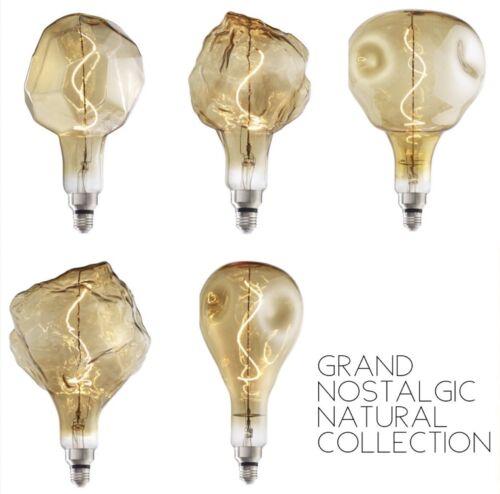 4w LED Oversized Light Bulb Glacier Shape Grand Nostalgic Natural Collection