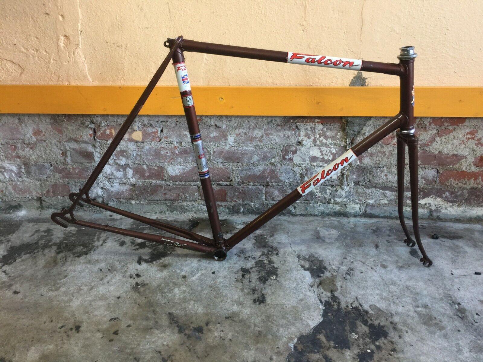 Vintage Falcon San Remo Hand-Built Road Bike Frameset, 59 cm, Reynolds 531