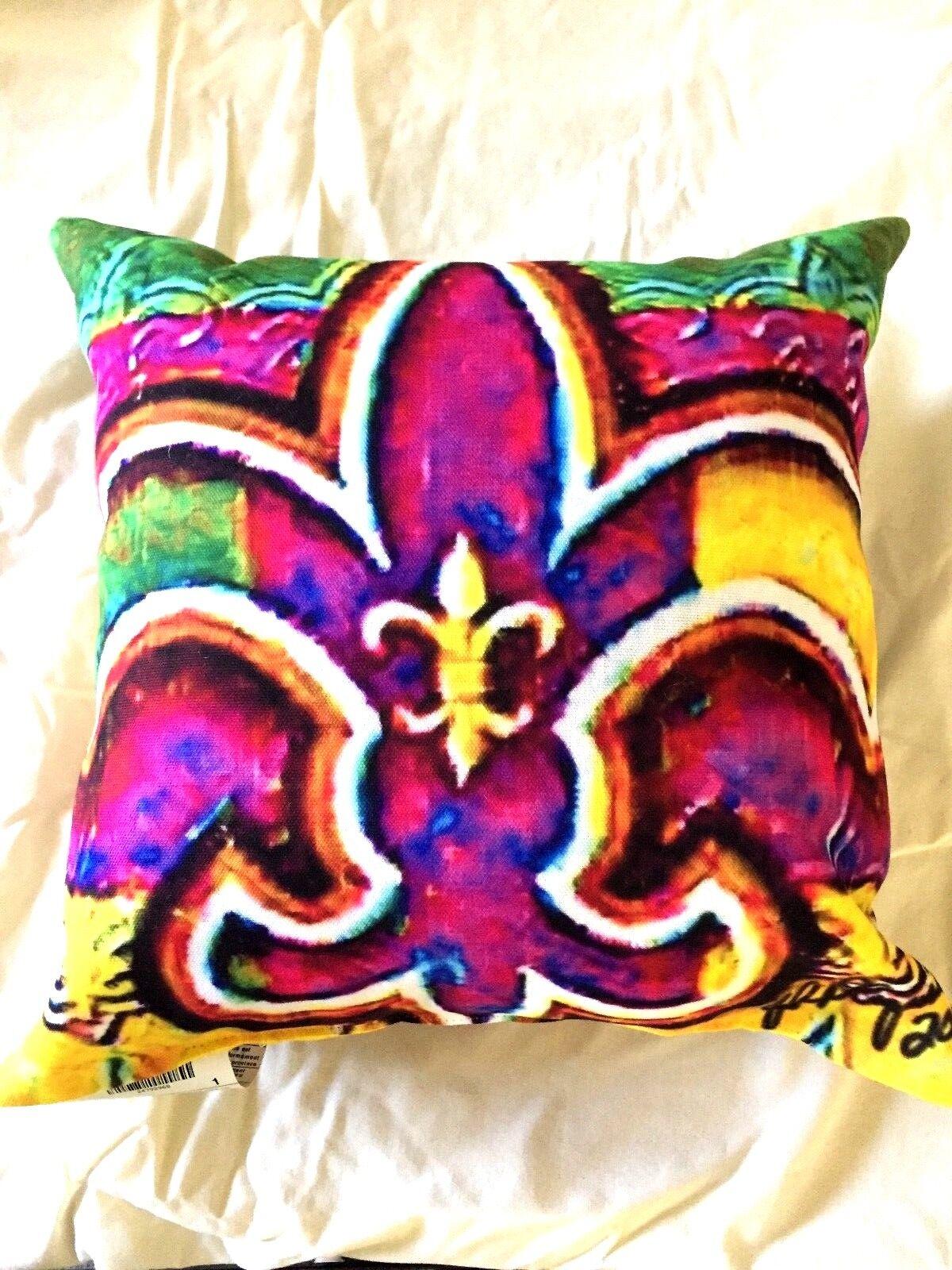 New New New Orleans Saints Inspiriert Fleur De Lis Pillow-Bonus Team Saints Pin-Flagge 1792ca