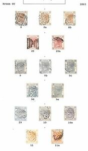 Hong Kong stamps 1863 Collection of 15 CLASSIC stamps HIGH VALUE!