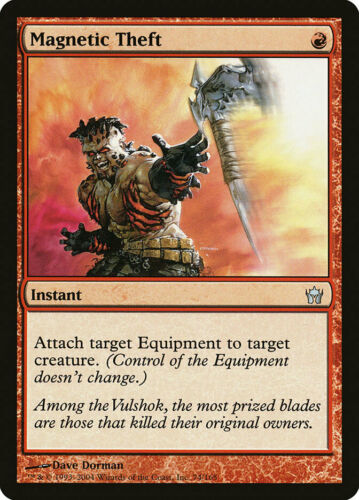 Moderate Play MTG X1: Magnetic Theft FREE US SHIPPING! Fifth Dawn U