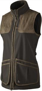 Seeland Winster Softshell Waistcoat Ladies Black Coffee Seetex Membrane Hunting