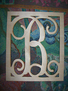 5 inch wooden letters unfinished wood letters fancy vine monogram 17 5 inch 20222 | s l300