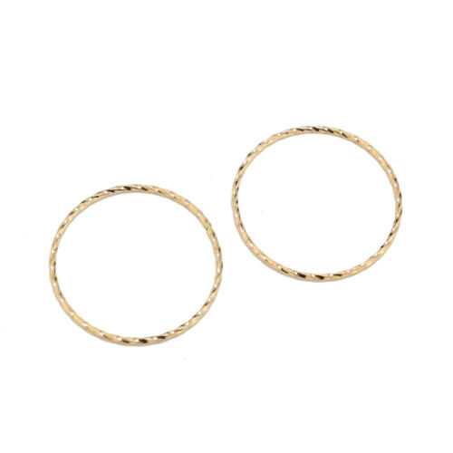 Gold Stainless Steel Charms Pendants Circle Shape Frame Jewelry Findings Bezels
