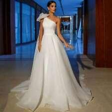 One shoulders off elegant bohemian wedding dress Rustic beach boho bridal gown