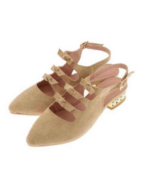 LIZ LISA - Pearl Heel Ribbon Ribbon Ribbon Sandals ( Japan cute kawaii lolita sweet pink ) 9c30d9