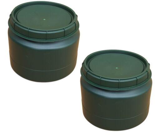 2 x 25 L grün Drehdeckelfass Vorratstonne Kunststofffass Plastefass Behälter NEU