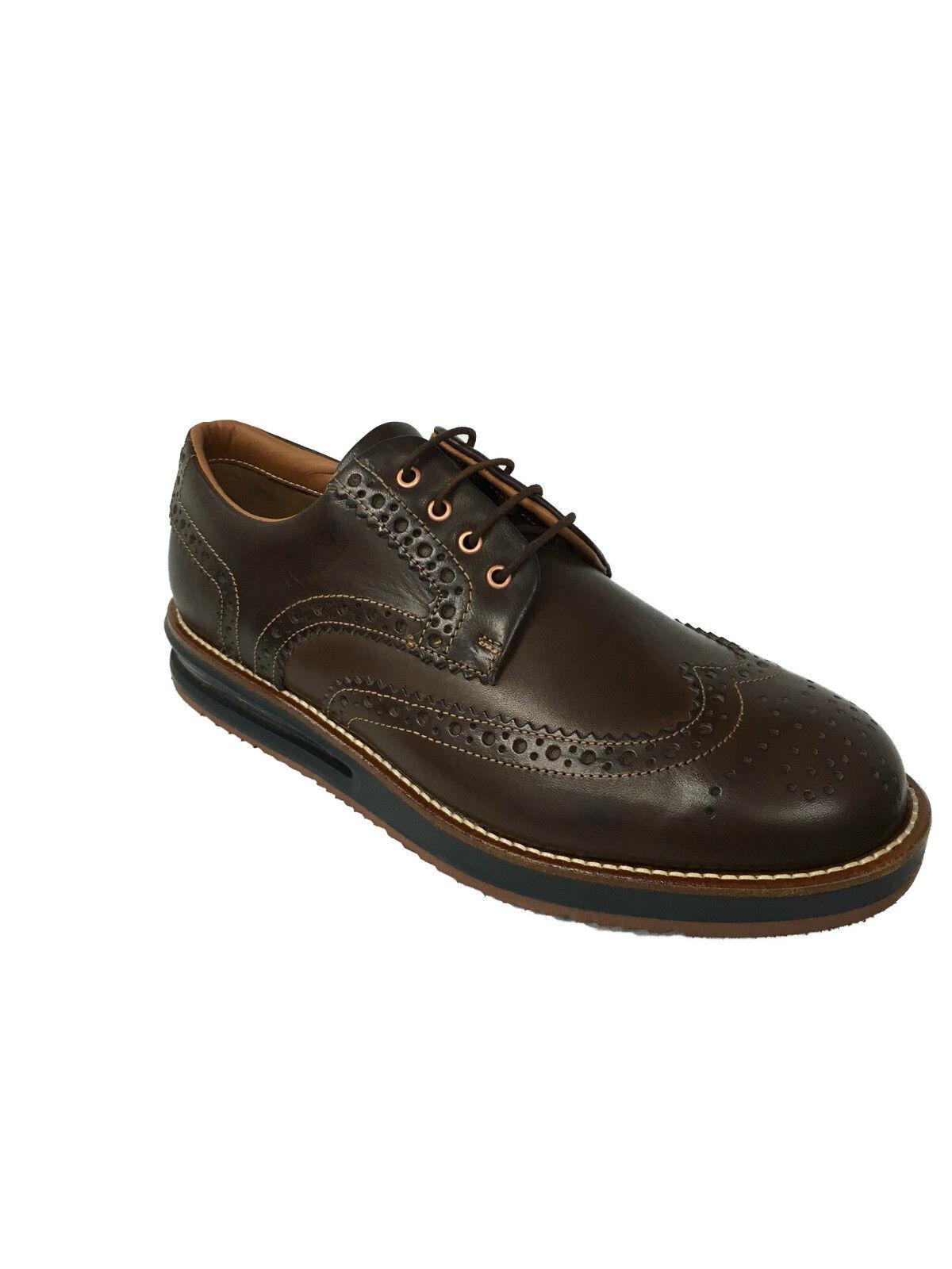 BARLEYCORN scarpa uomo allacciata moro mod COWHIDE 100% pelle MADE IN ITALY