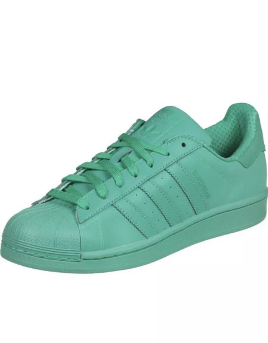 Adidas Original Superstar Adicolor Reflective Shock Mint Shell Toes Mens12