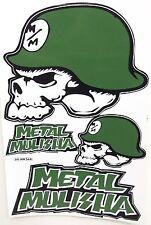 Großer Aufkleber Sticker MX Motocross METAL MULISHA grün 265 x 170 mm     #M21
