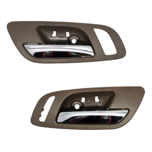 Front Right Inside Door Handles Brown//Cashmere w// Chrome Front Left