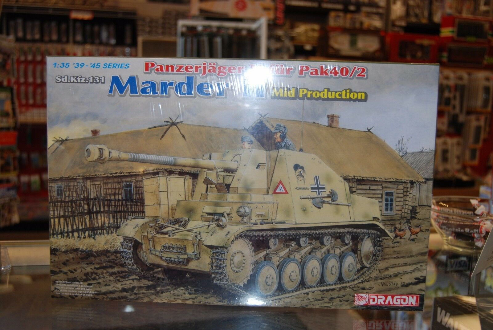Dragon 6423  1 35 Sd.Kfz.131 Marder II Mid Production Model kit