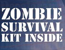 Zombie Kit De Supervivencia dentro Novedad gracioso car/van/window / calcomanía