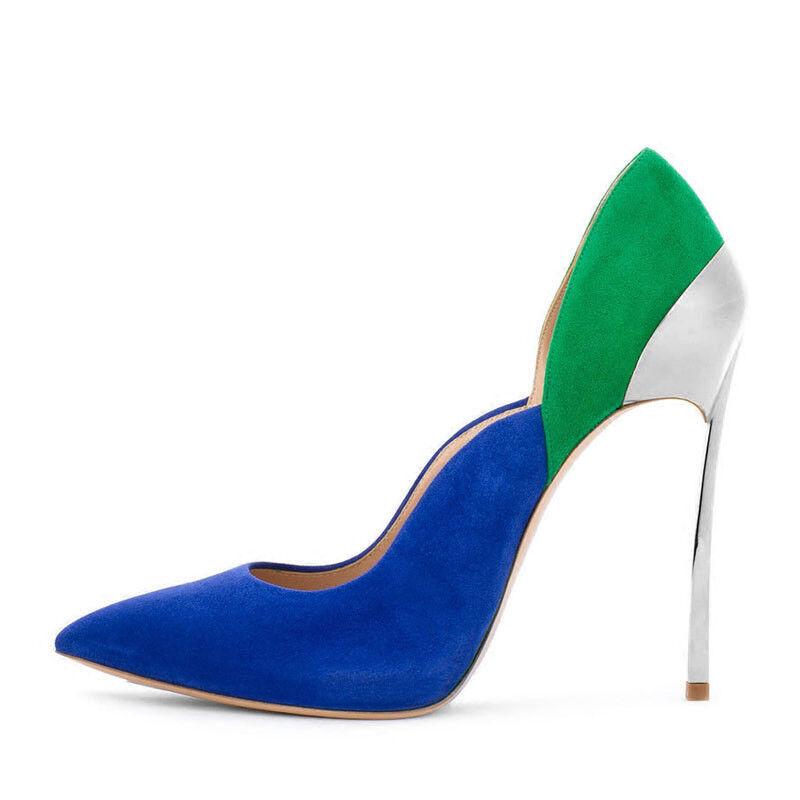 Decolte kim kardashian 12 cm stiletto green eleganti scamosciato simil pelle 20