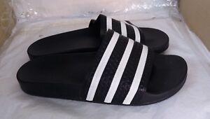 Détails sur Adidas Originals Adilette diapositives HOMME Sandales Noir UK 8 afficher le titre d'origine