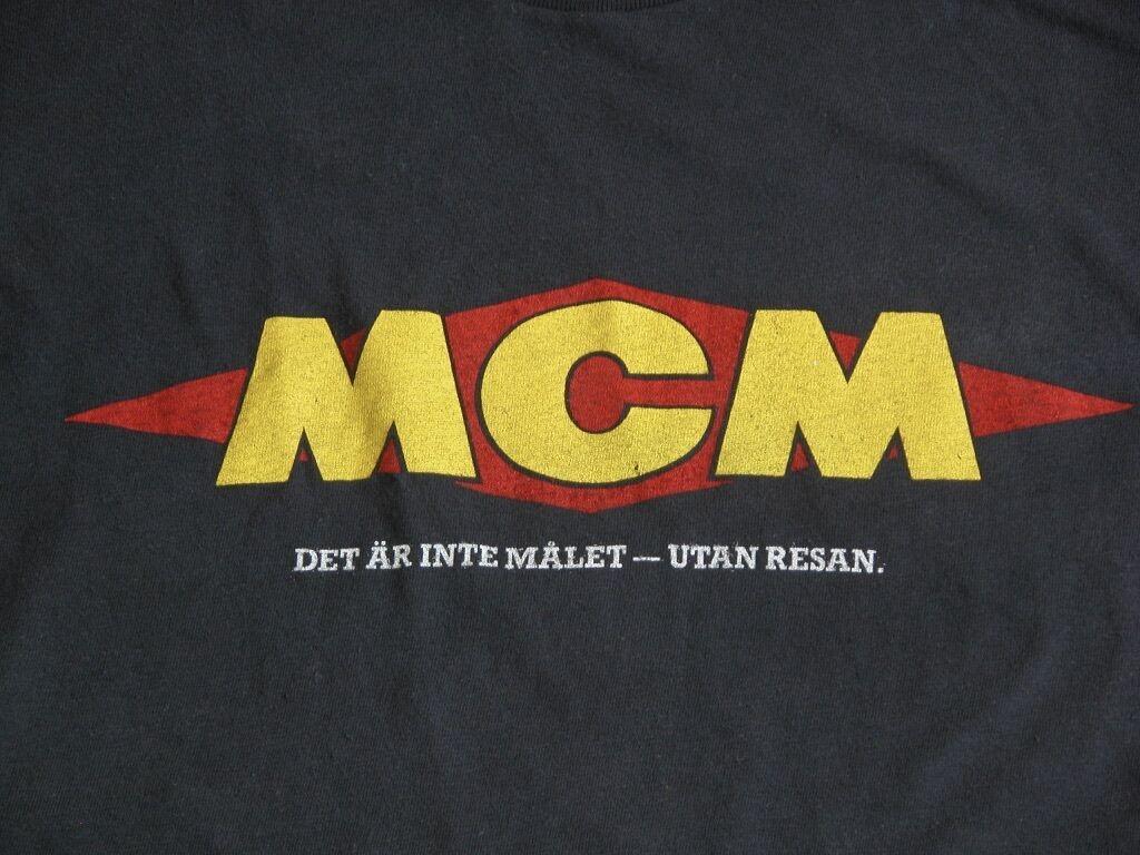 NOS Vtg MCM Scandinavia's Motorcycle Magazine Logo T Shirt Mns 46 Malaren Runt