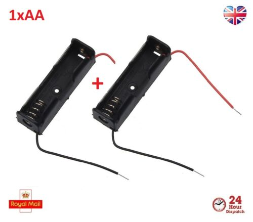 1xAA 1.5v Battery Rechargeable Charger Holder with Connection Wire Cable 2Pcs