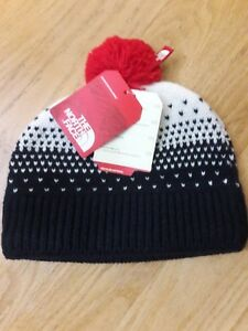 3906af52485eb The North Face Girls Youth Pom Pom Beanie Snow Winter Hat Cosmic ...