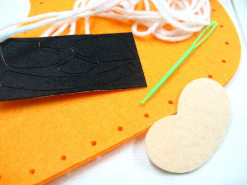 Santa de Noël Chaussette Feutre Sewing kits Noël Fille Enfants Cadeau main coudre matériaux Craft