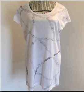BNWT-Saba-womens-ladies-chain-Tee-Shirt-top-blause-multi-color-sz-12-14-RRP-69