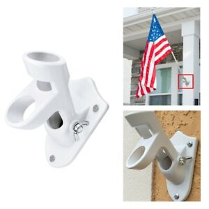 Adjustable-Wall-Mounted-Flag-Bracket-Holder-Aluminum-Windsock-Base-Flagpole-USA