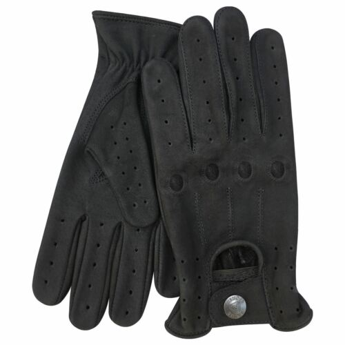 New premium quality classic driving gloves real leather in denim Style Blue 512