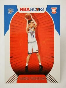 Panini Hoops 2020-21 N22 card NBA Rookie RC OKC Thunder #219 Aleksej Pokusevski
