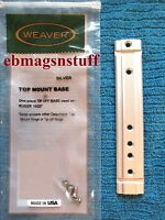 Actual Weaver Brand Ruger 10/22 Silver Scope Rail Base ++ ++ With Screws