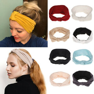 Yoga-turban-Hairband-Elastic-Hair-Accessories-Twist-knotted-Women-Headband