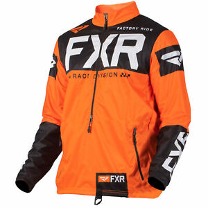 FXR-Mens-Snow-Jacket-Cold-Cross-Rr-Pullover-Orange-Black-White