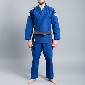 Scramble-athlite-3-BJJ-Jiu-Jitsu-bresilien-MMA-Gi-UNIFORME-Kimono-Bleu
