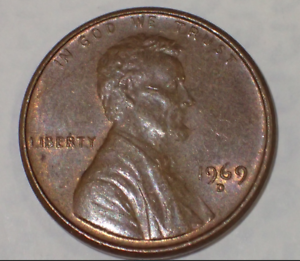 Industrious 1969d Usa Lincoln 1 Cent Coin #sn509 Coins & Paper Money