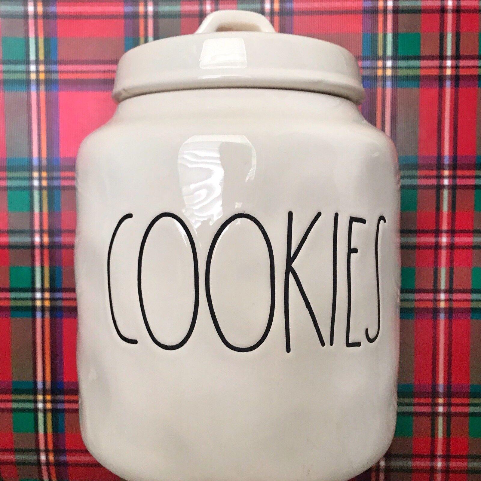RAE DUNN Cookies bidon pot New Classic grandes lettres