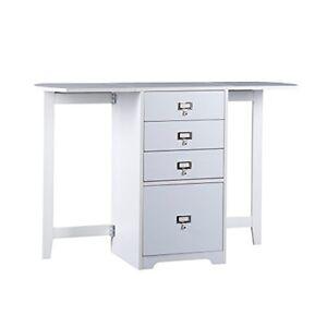 Southern Enterprises White Fold Out Organizer Amp Craft Desk